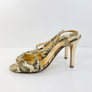 Kate Spade Snakeskin Strappy Heels